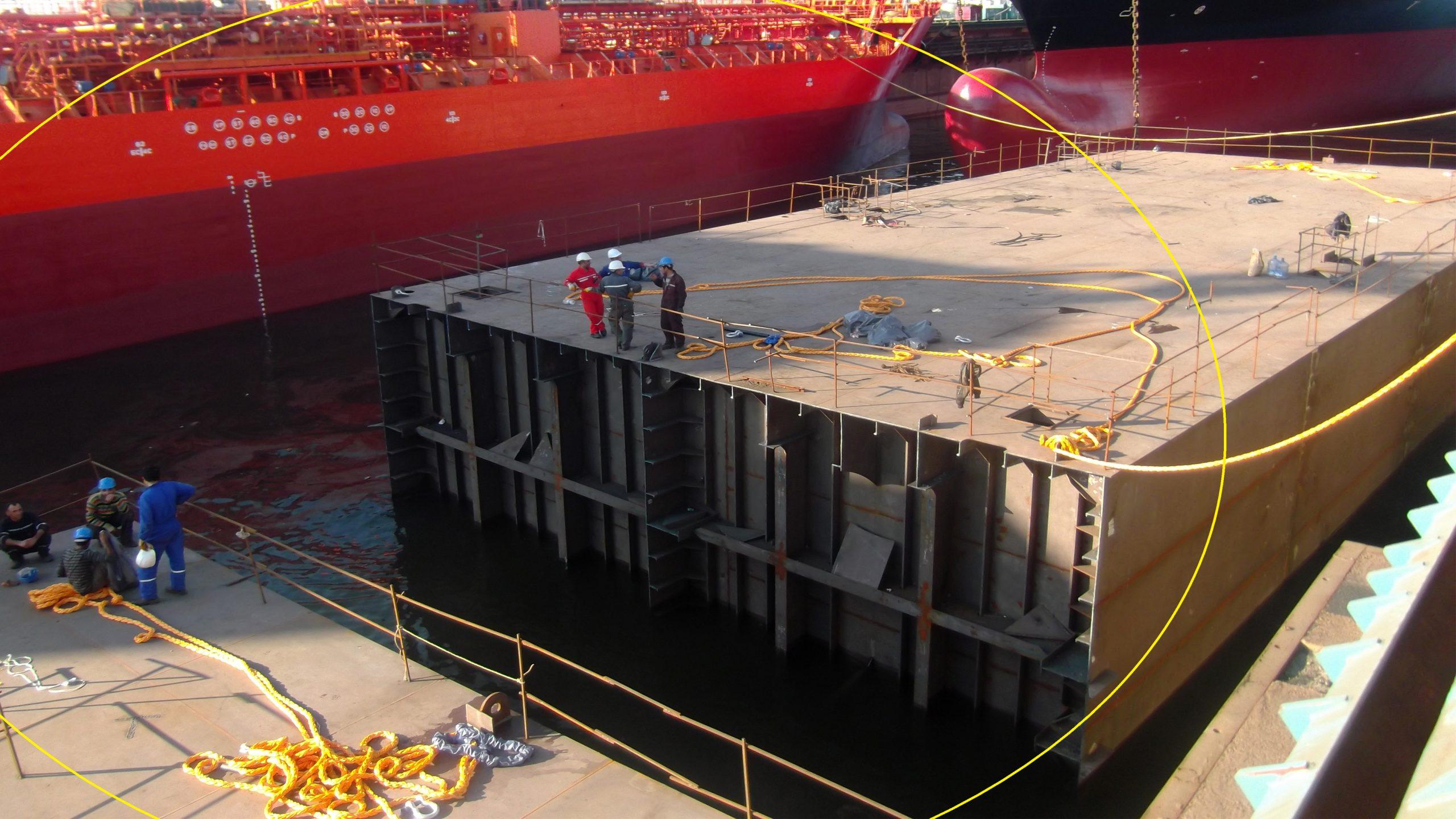 100 X 35 Metre Pontoon Barge İnşaası- Captain Lychkin