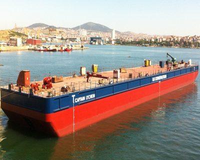 100 x 35 Meter Pontoon Barge Construction – Captain Lychkin